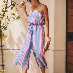 Vici strapless pocketed jumpsuit